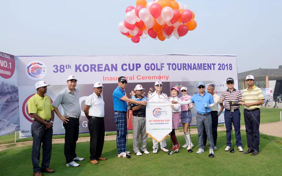'제38회 코리안 컵 골프 토너먼트(Korean Cup Golf Tournament)'가 Kurmitola 골프 클럽에서 개최됐다.[사진제공=방글라데시한인회]