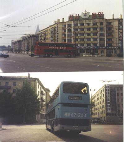 평양 2층 버스